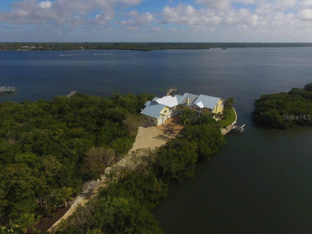 Front Aerial - Single Family Home for sale at 7295 Manasota Key Rd, Englewood, FL 34223 - MLS Number is D5911936