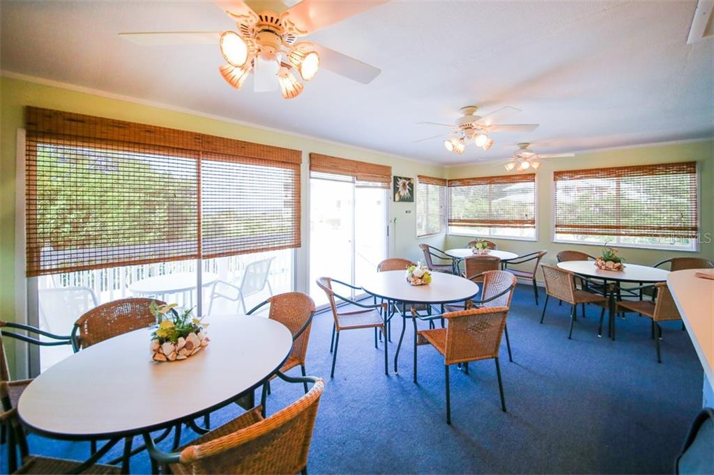 Seating/Eating area in clubhouse on Little Gasparilla Island - Condo for sale at 11000 Placida Rd #2603, Placida, FL 33946 - MLS Number is D5918679