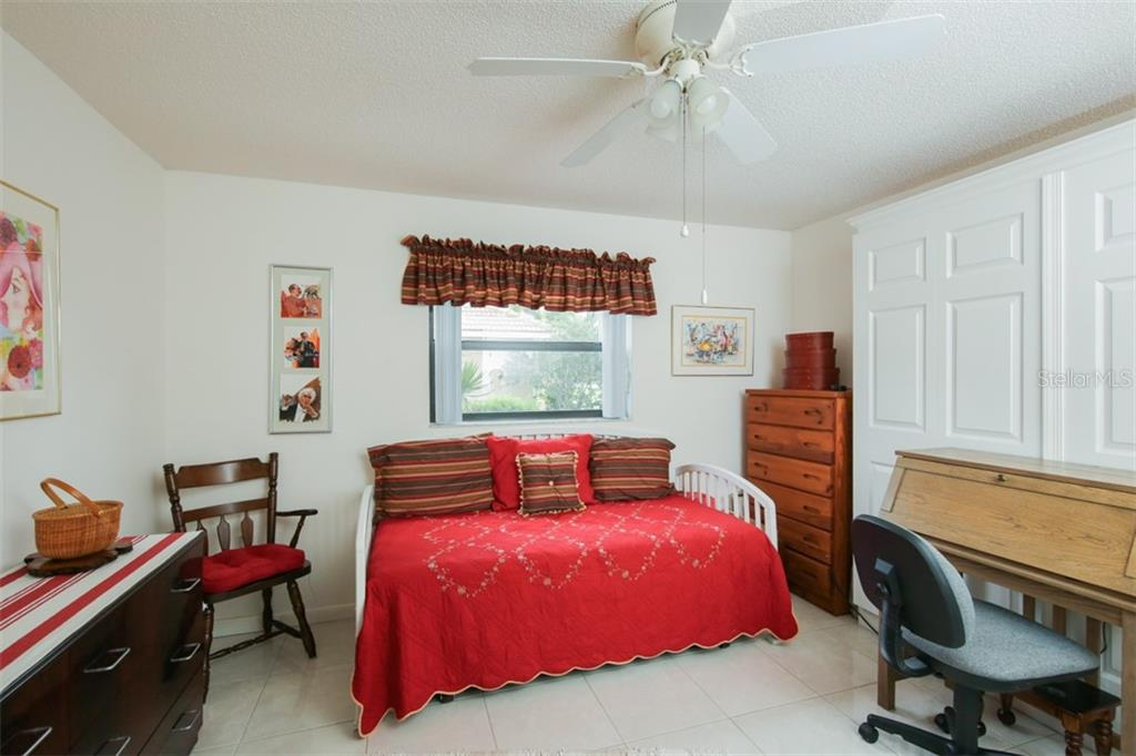 Bedroom #2 with Murphy Bed - Single Family Home for sale at 332 Eden Dr, Englewood, FL 34223 - MLS Number is D6100012