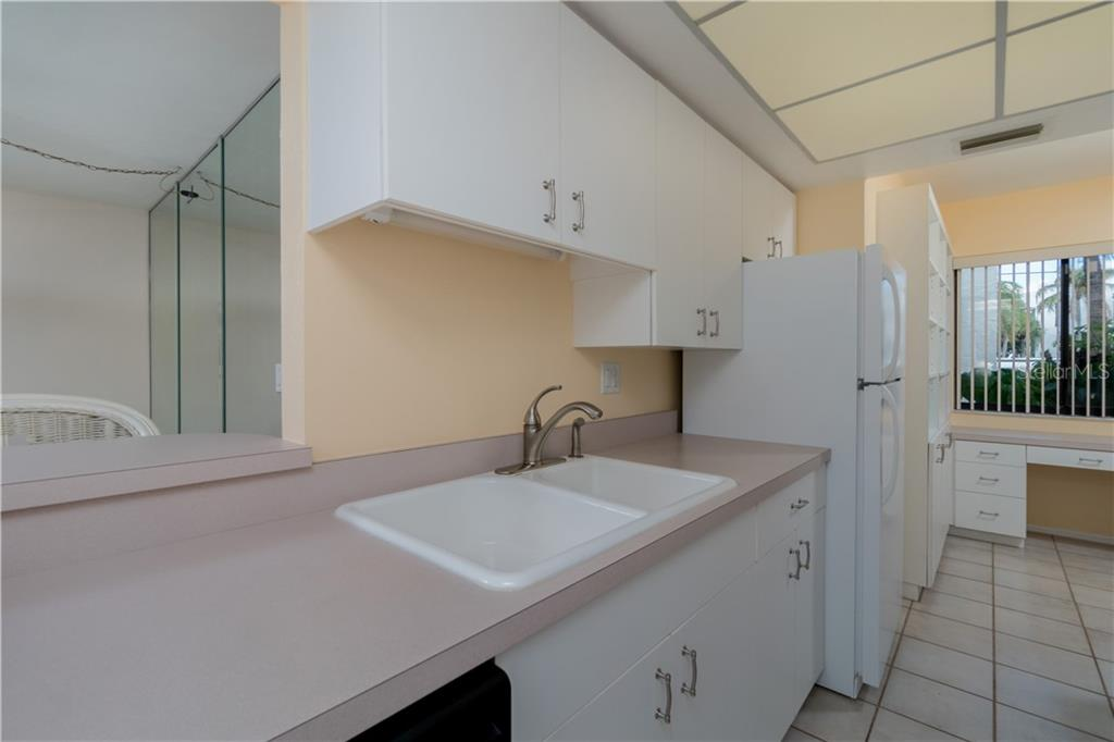 View from Kitchen - Condo for sale at 2955 N Beach Rd #b612, Englewood, FL 34223 - MLS Number is D6101147