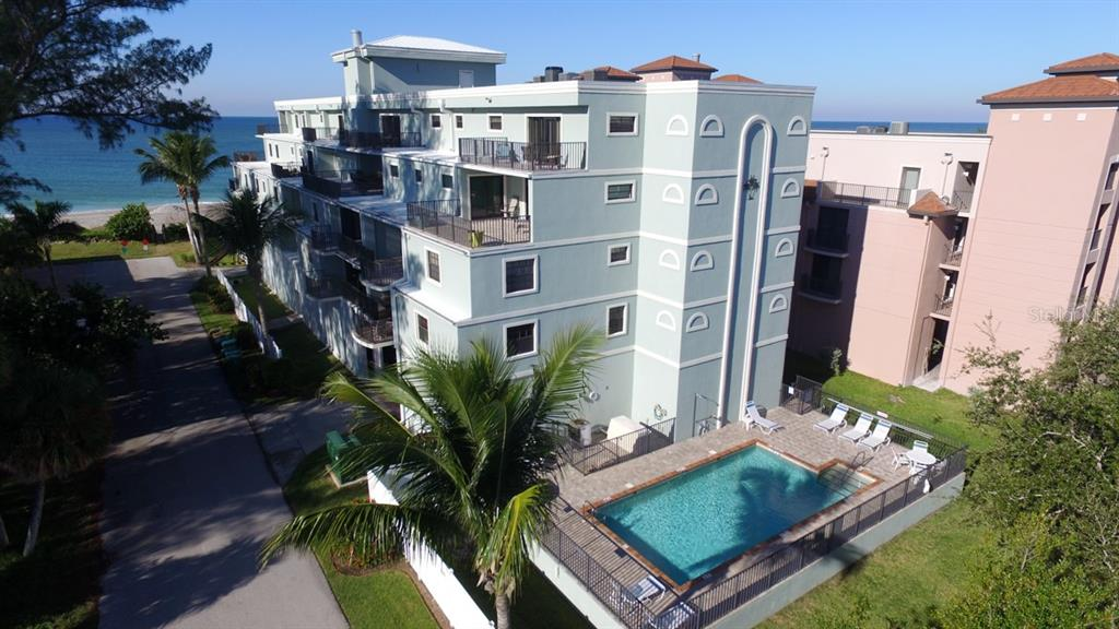Building Aerial - Condo for sale at 50 Meredith Dr #8, Englewood, FL 34223 - MLS Number is D6103644