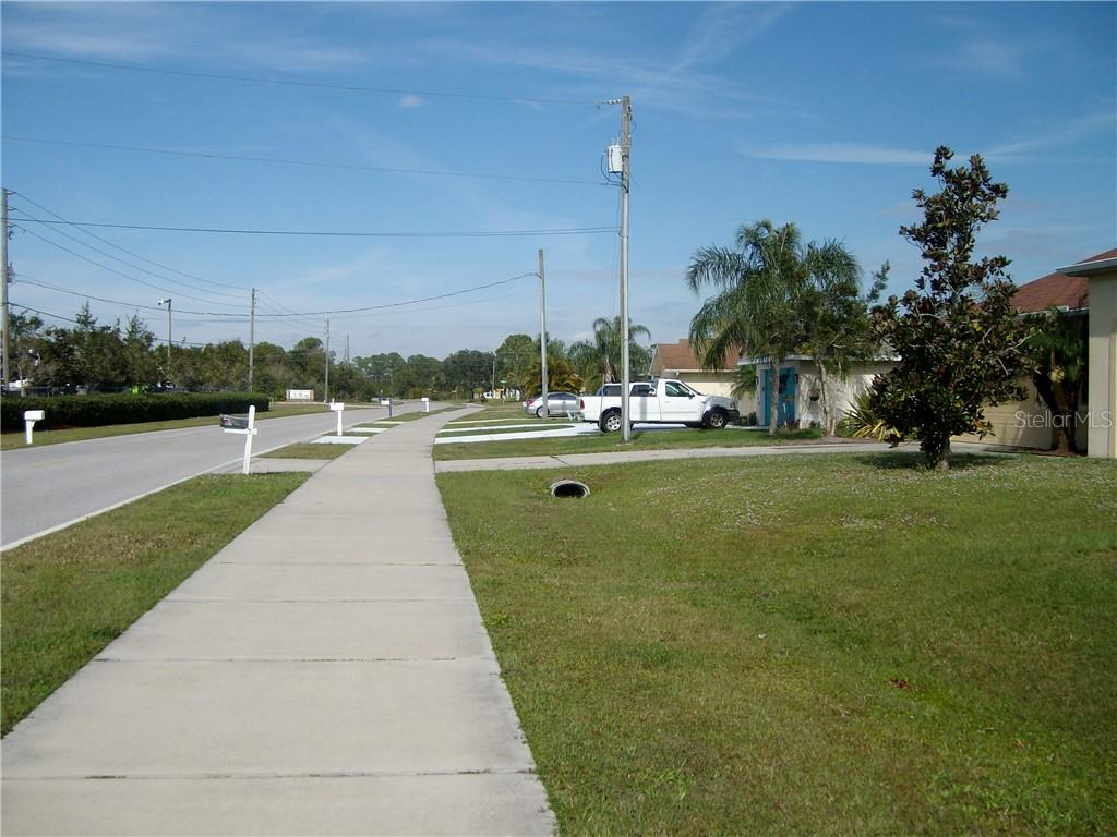 North street view from property - Vacant Land for sale at 1156 Capricorn Blvd, Punta Gorda, FL 33983 - MLS Number is D6104426