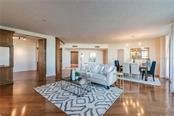 LIVING ROOM, DINING ROOM - Condo for sale at 1281 Gulf Of Mexico Dr #304, Longboat Key, FL 34228 - MLS Number is T3121789