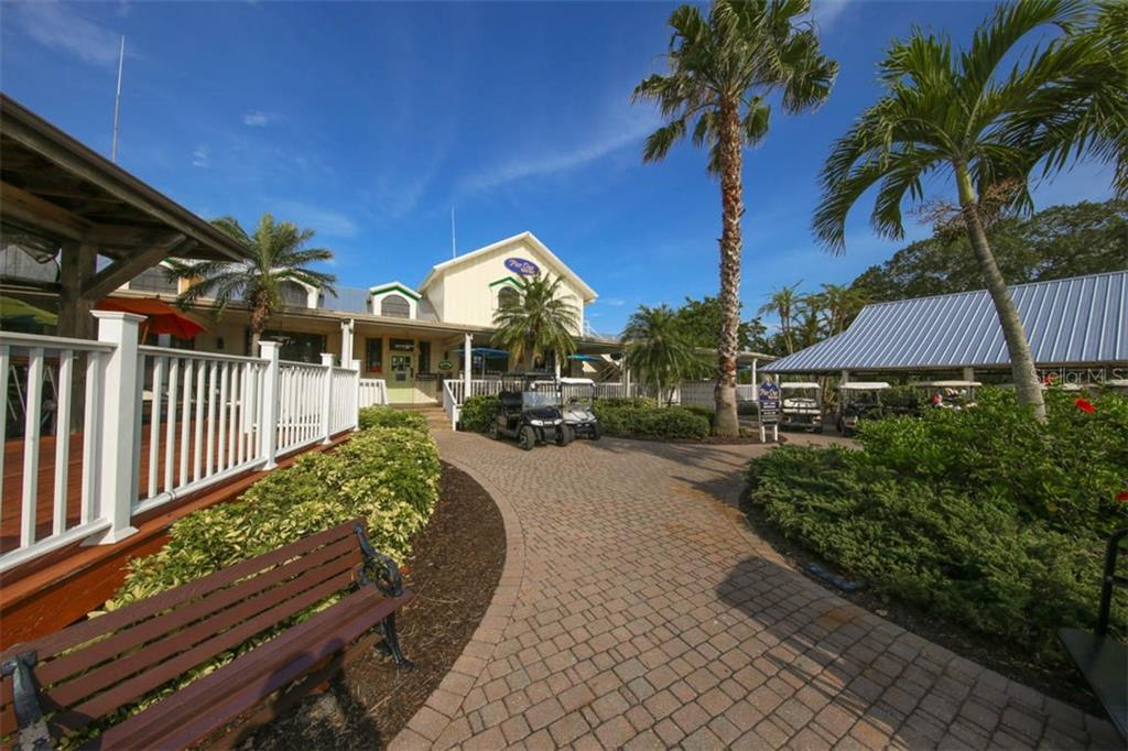 And here is the hub of the community where you will find waterfront dining, live entertainment, ship store & deli, plus the tikki hut gathering spot!  All within walking distance of Resort Villa #6. - Villa for sale at 3181 Matecumbe Key Rd #6, Punta Gorda, FL 33955 - MLS Number is C7409111