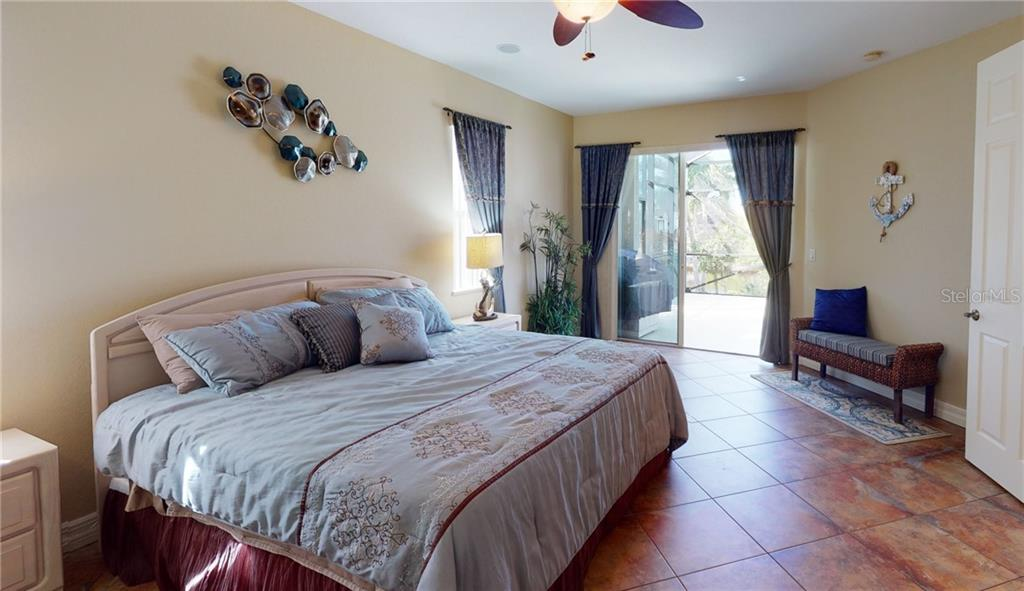 1st floor guest bedroom with slider to the pool deck. - Single Family Home for sale at 4245 Spire St, Port Charlotte, FL 33981 - MLS Number is C7437570