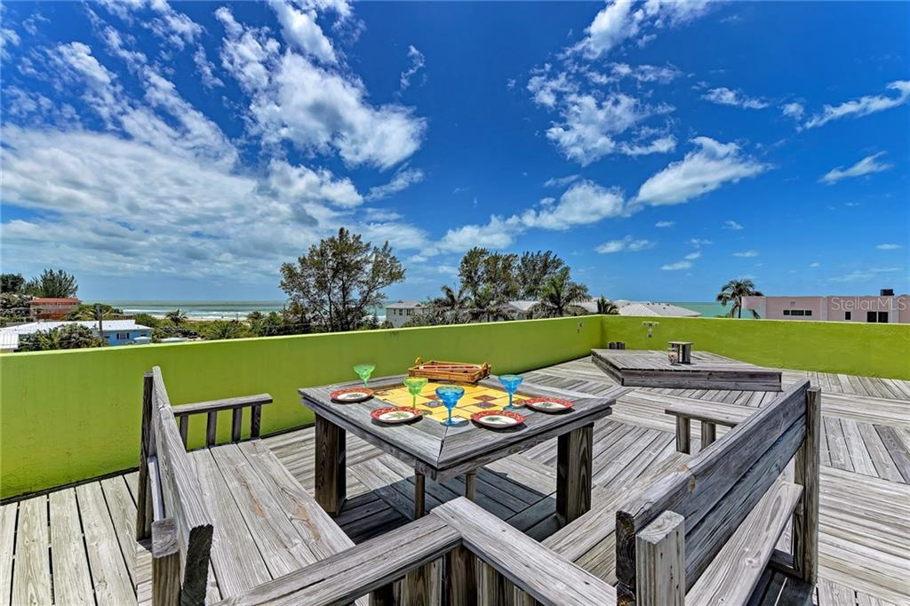 Rooftop deck - Single Family Home for sale at 3603 4th Ave, Holmes Beach, FL 34217 - MLS Number is A4160803