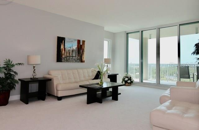 9 foot ceilings, 4 panel doors opening to a large balcony - Condo for sale at 1771 Ringling Blvd #1108, Sarasota, FL 34236 - MLS Number is A4162718