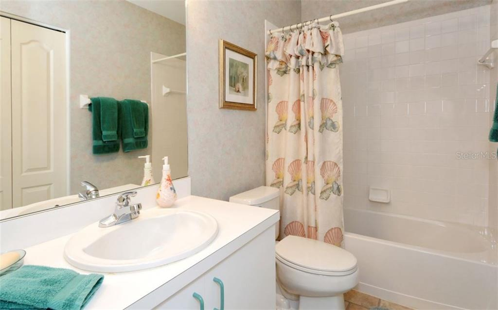 Guest bath. - Condo for sale at 9630 Club South Cir #6103, Sarasota, FL 34238 - MLS Number is A4166105