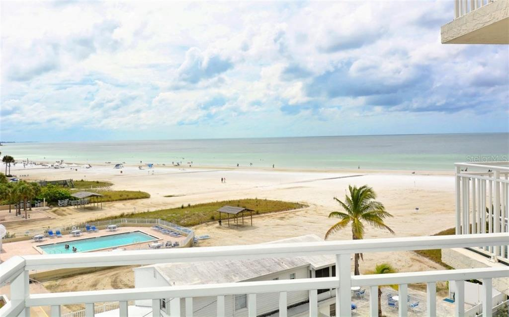 Beach view from open balcony - Condo for sale at 5830 Midnight Pass Rd #504, Sarasota, FL 34242 - MLS Number is A4166623