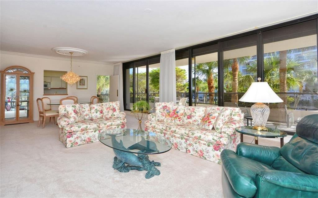 Living & Dining Room - Single Family Home for sale at 535 Sanctuary Dr #c108, Longboat Key, FL 34228 - MLS Number is A4172623