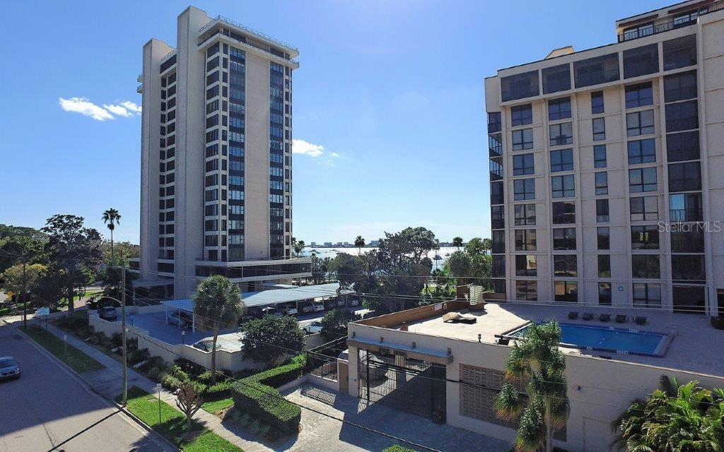 Sarasota Bay View from the great room and terrace. - Condo for sale at 711 S Palm Ave #304, Sarasota, FL 34236 - MLS Number is A4173195