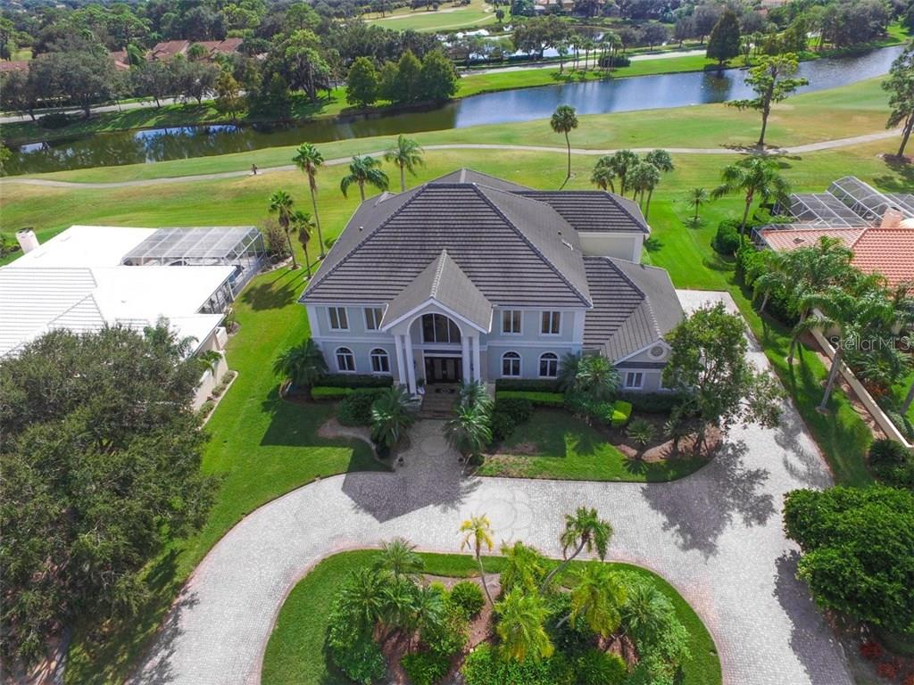 Panoramic view of golf course and lake. . what privacy - Single Family Home for sale at 4298 Boca Pointe Dr, Sarasota, FL 34238 - MLS Number is A4176372