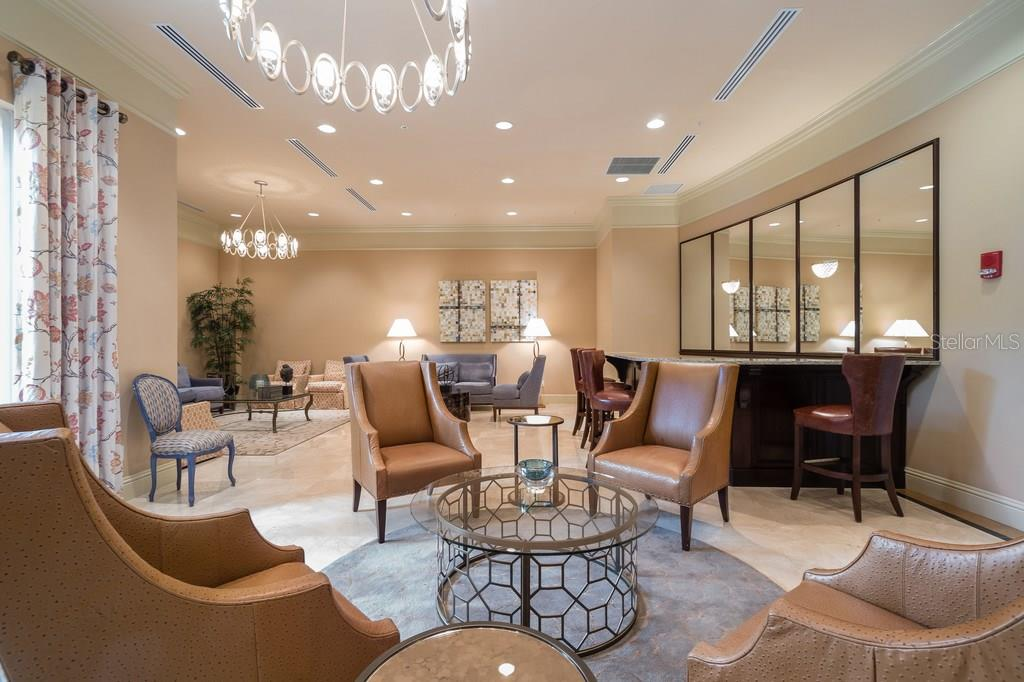 The party room.  Reserve it for the holidays or a mid-summer gathering. - Condo for sale at 800 N Tamiami Trl #1201, Sarasota, FL 34236 - MLS Number is A4184297