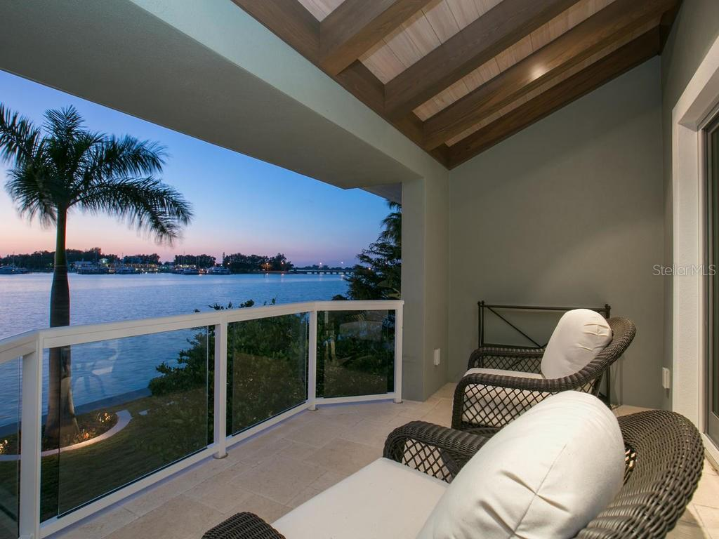 Master suite terrace - Single Family Home for sale at 100 S Warbler Ln, Sarasota, FL 34236 - MLS Number is A4184994