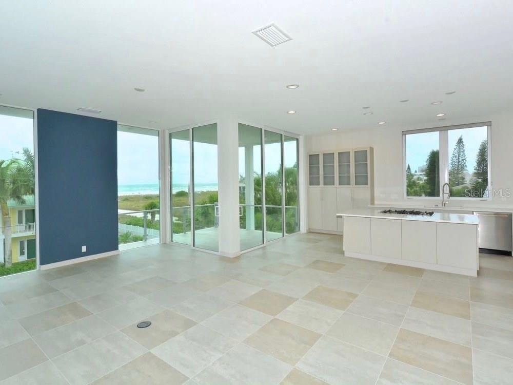 Great Room / Kitchen - Single Family Home for sale at 641 Beach Rd, Sarasota, FL 34242 - MLS Number is A4185328