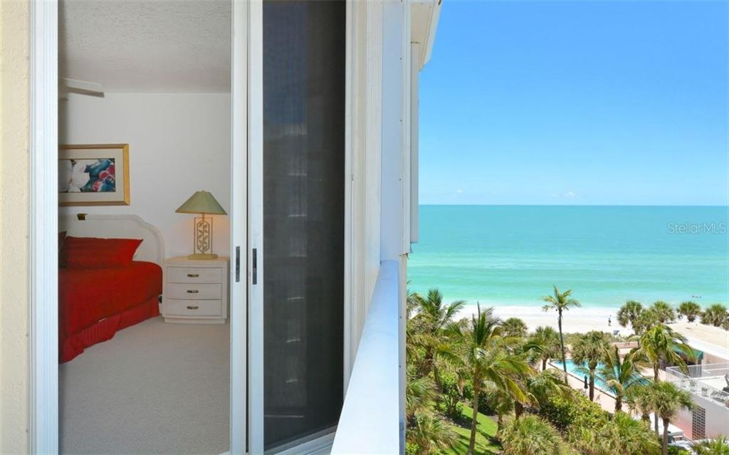 Third bedroom has views of the Bay and access to balcony with Gulf views. - Condo for sale at 1800 Benjamin Franklin Dr #b507, Sarasota, FL 34236 - MLS Number is A4188540