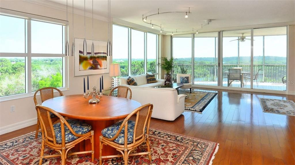 Living/Dining Room - Condo for sale at 409 N Point Rd #601, Osprey, FL 34229 - MLS Number is A4189564