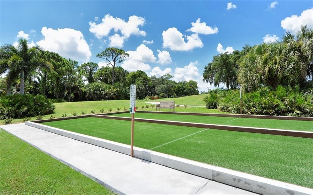 Stoneybrook Golf & Country Club newly designed bocce courts. - Single Family Home for sale at 8747 Grey Oaks Ave, Sarasota, FL 34238 - MLS Number is A4195019