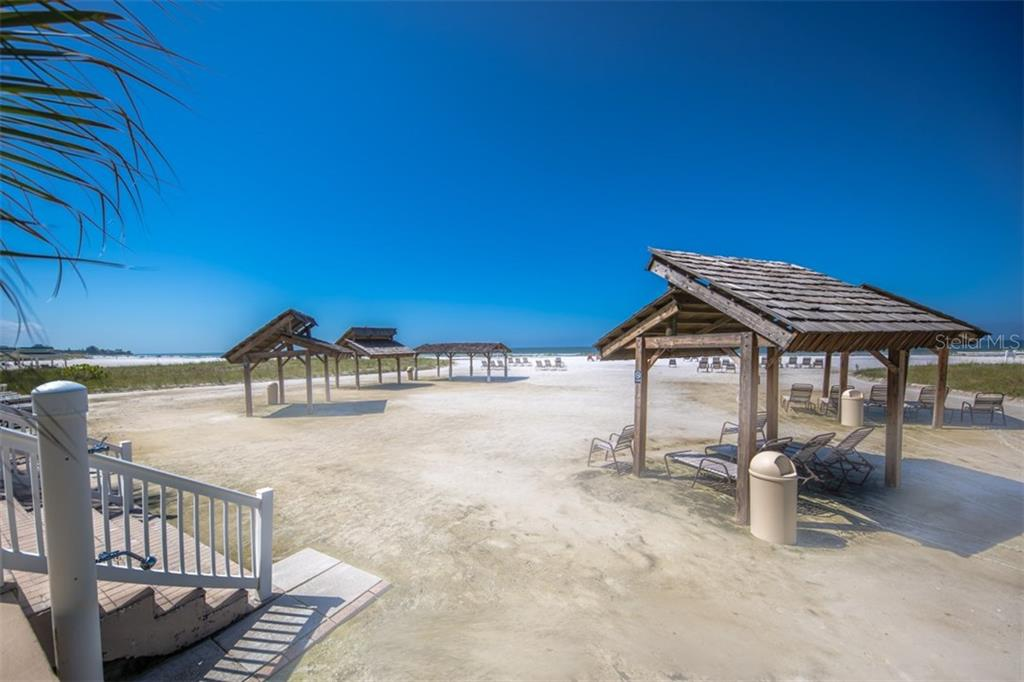 Community private beach area and cabanas - Condo for sale at 6140 Midnight Pass Rd #c-9, Sarasota, FL 34242 - MLS Number is A4195879