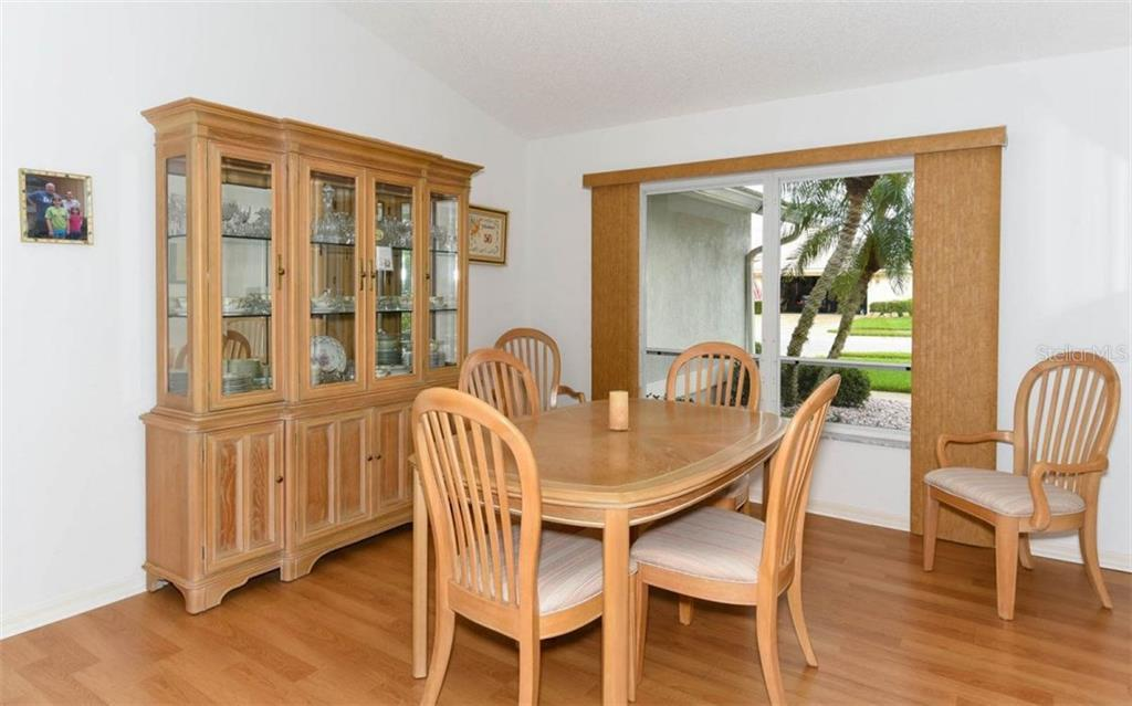 Dining Room Offers Lots of Space and Large Windows for Extra Light - Single Family Home for sale at 1632 Valley Dr, Venice, FL 34292 - MLS Number is A4197771