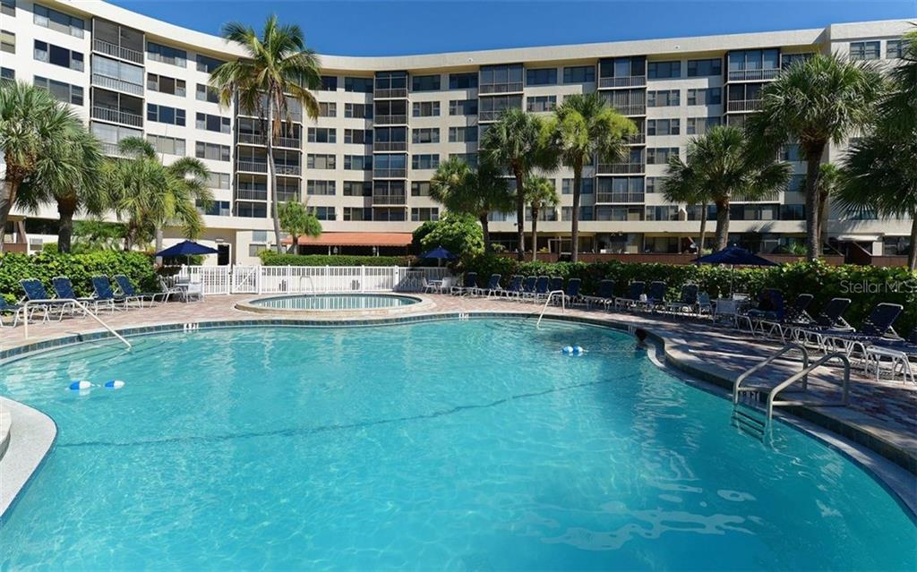 Swimming pool, spa and sun deck - Condo for sale at 5855 Midnight Pass Rd #328, Sarasota, FL 34242 - MLS Number is A4200358