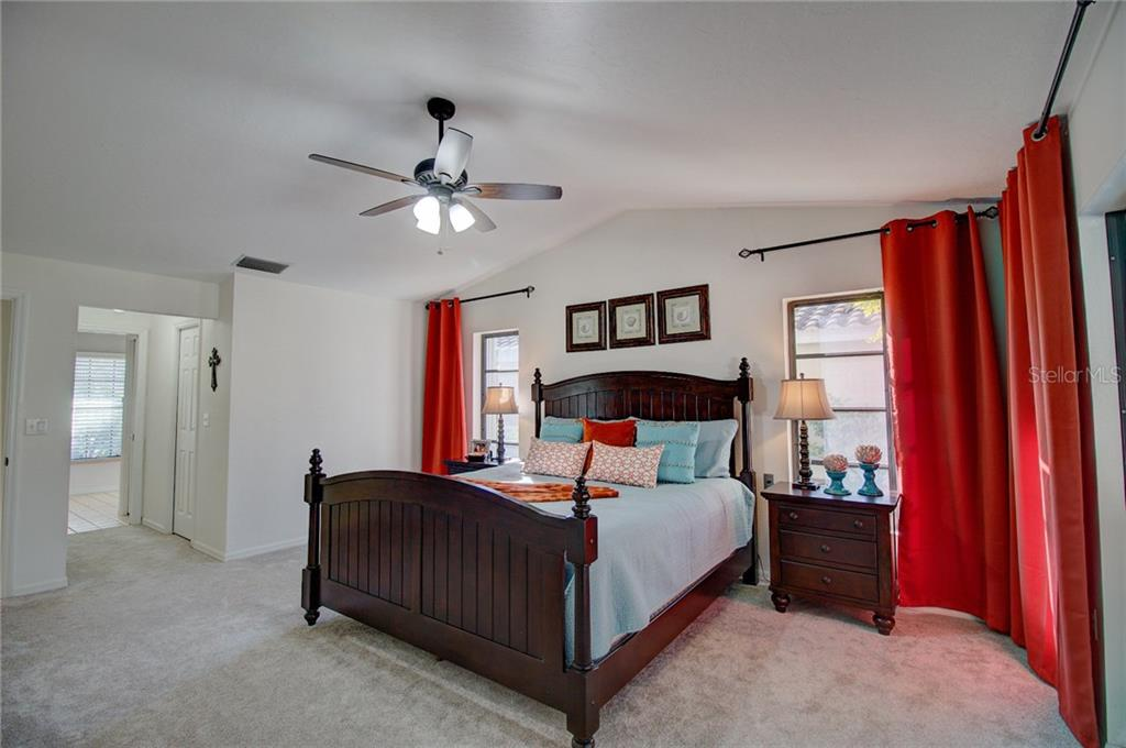 Master Bedroom, New Carpet - Single Family Home for sale at 1087 Hoover Cir, Nokomis, FL 34275 - MLS Number is A4201722