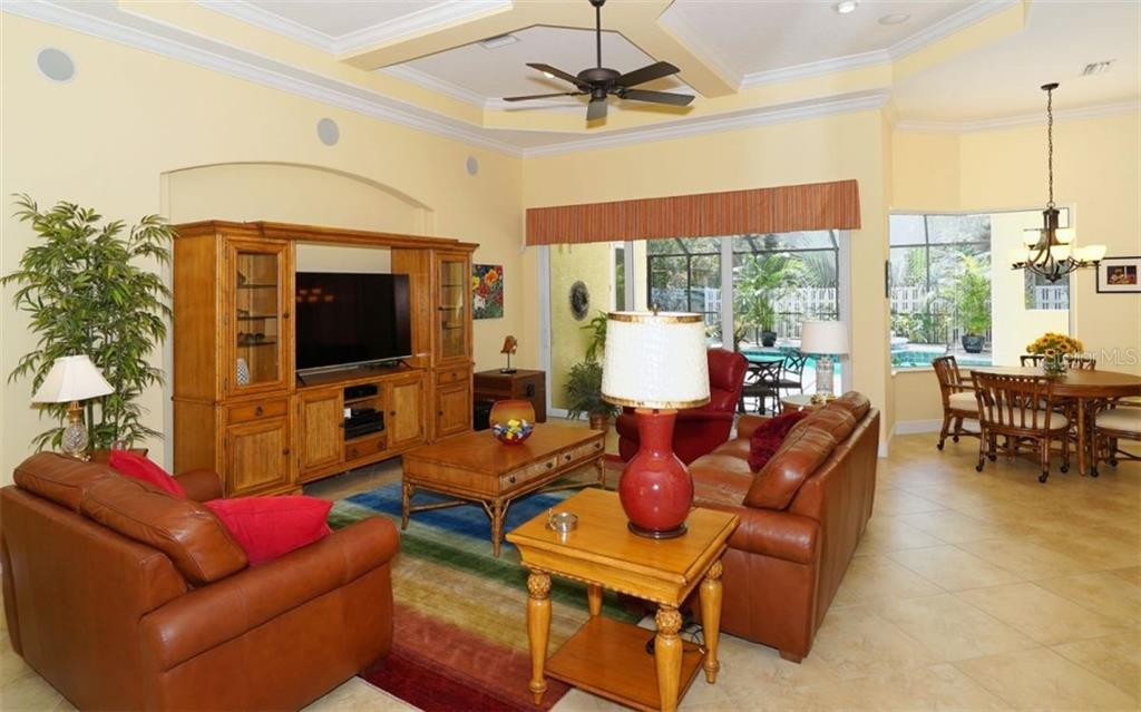 Open Great Room perfect for entertaining - Single Family Home for sale at 1746 Hillview St, Sarasota, FL 34239 - MLS Number is A4202985