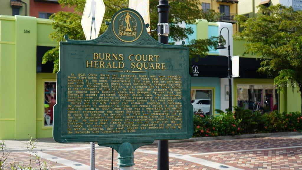 The shops, salons, cafes and cinema of historic Burns Square are just steps from your front door. - Condo for sale at 711 S Palm Ave #402, Sarasota, FL 34236 - MLS Number is A4205921