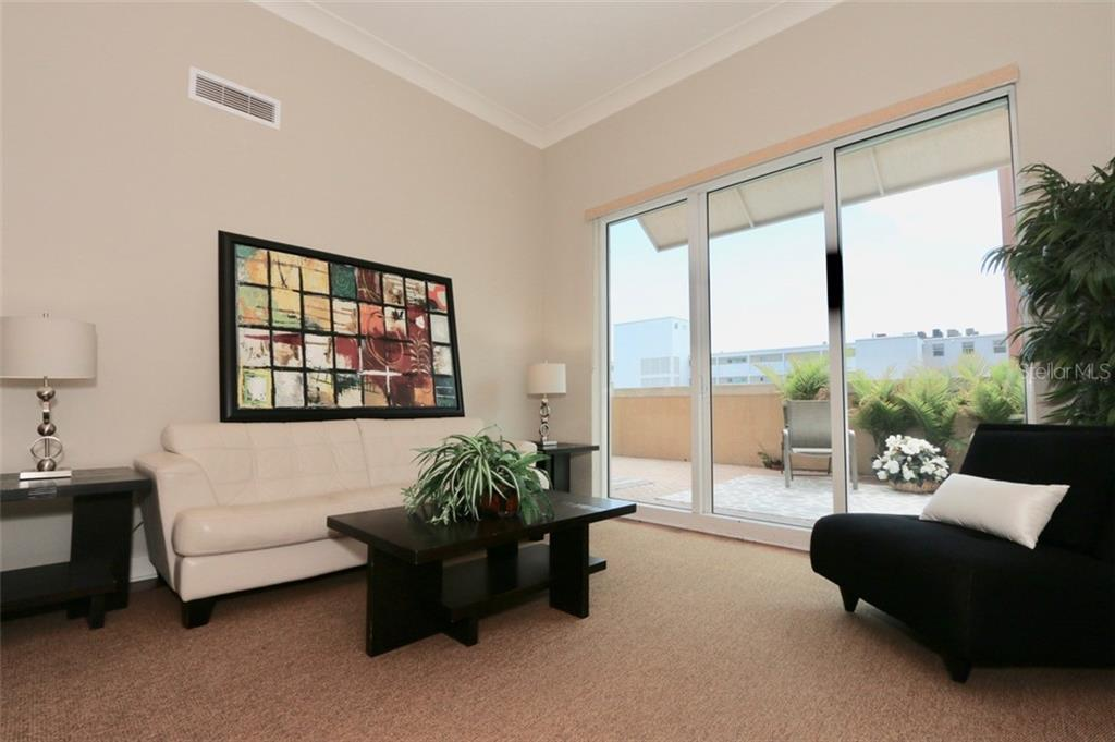 Spacious living room area. - Condo for sale at 1350 Main St #608, Sarasota, FL 34236 - MLS Number is A4206707