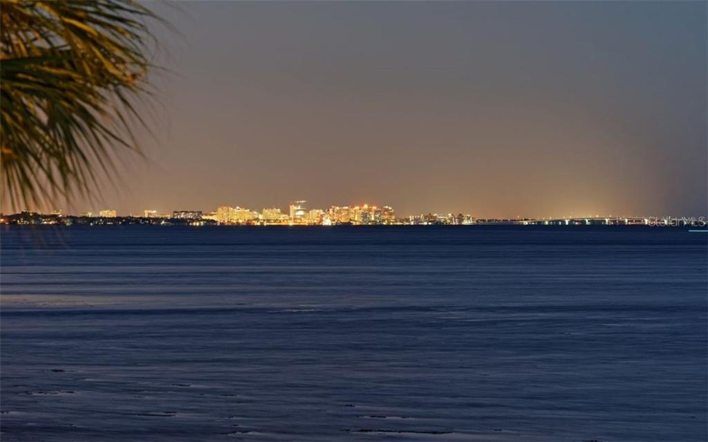 Your view of sparkling lights from downtown Sarasota & the Ringling Bridge. - Single Family Home for sale at 3908 Bayside Dr, Bradenton, FL 34210 - MLS Number is A4207355