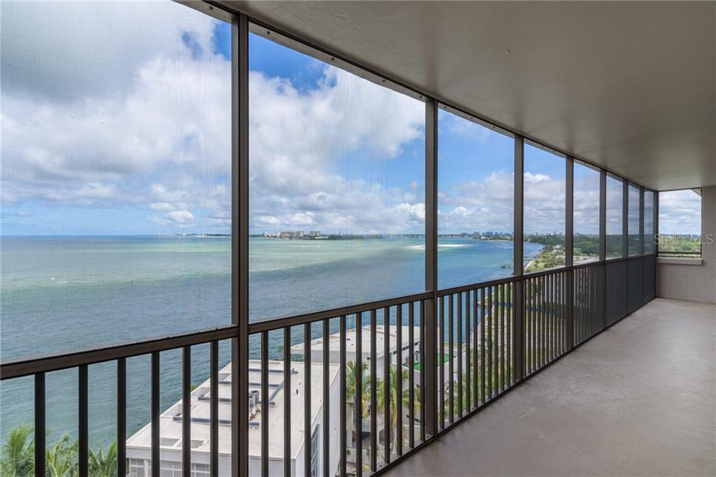 Views of Big Pass and Lido Keys from screened terrace - Condo for sale at 4822 Ocean Blvd #11d, Sarasota, FL 34242 - MLS Number is A4209955