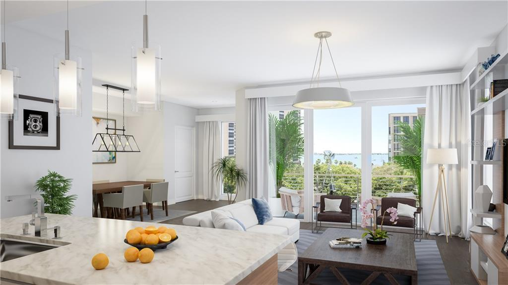 Open flowing spaces, 9 ft. sliders for maximum light, 11 ft. volume ceilings - Condo for sale at 711 S Palm Ave #502, Sarasota, FL 34236 - MLS Number is A4210163
