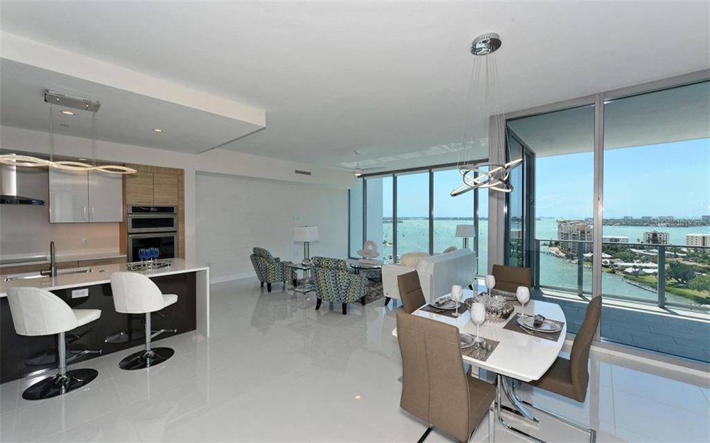 The great room with its great views! - Condo for sale at 1155 N Gulfstream Ave #1504, Sarasota, FL 34236 - MLS Number is A4215032