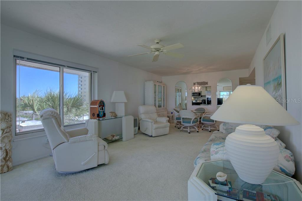 Great room (living /dinning) - Condo for sale at 1900 Benjamin Franklin Dr #401b, Sarasota, FL 34236 - MLS Number is A4400820