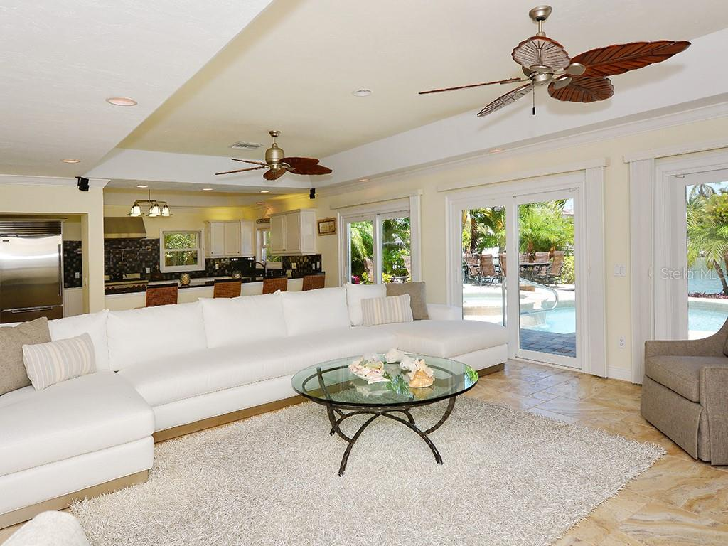 Family Room - Kitchen - Single Family Home for sale at 85 S Polk Dr, Sarasota, FL 34236 - MLS Number is A4400870
