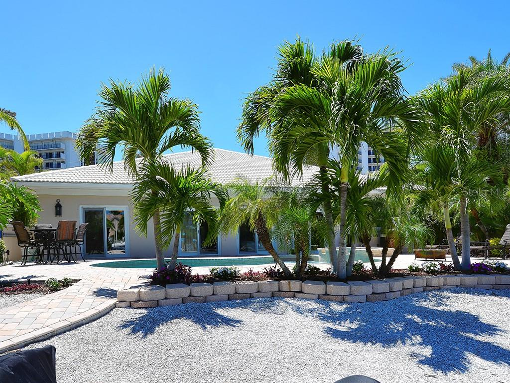 Tropical Lush Landscaping - Single Family Home for sale at 85 S Polk Dr, Sarasota, FL 34236 - MLS Number is A4400870