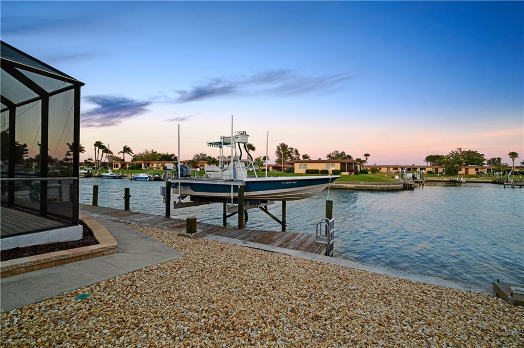 On right side you can see the big canal cutout for ease of turning your boat around. - Single Family Home for sale at 3807 Royal Palm Dr, Bradenton, FL 34210 - MLS Number is A4402342
