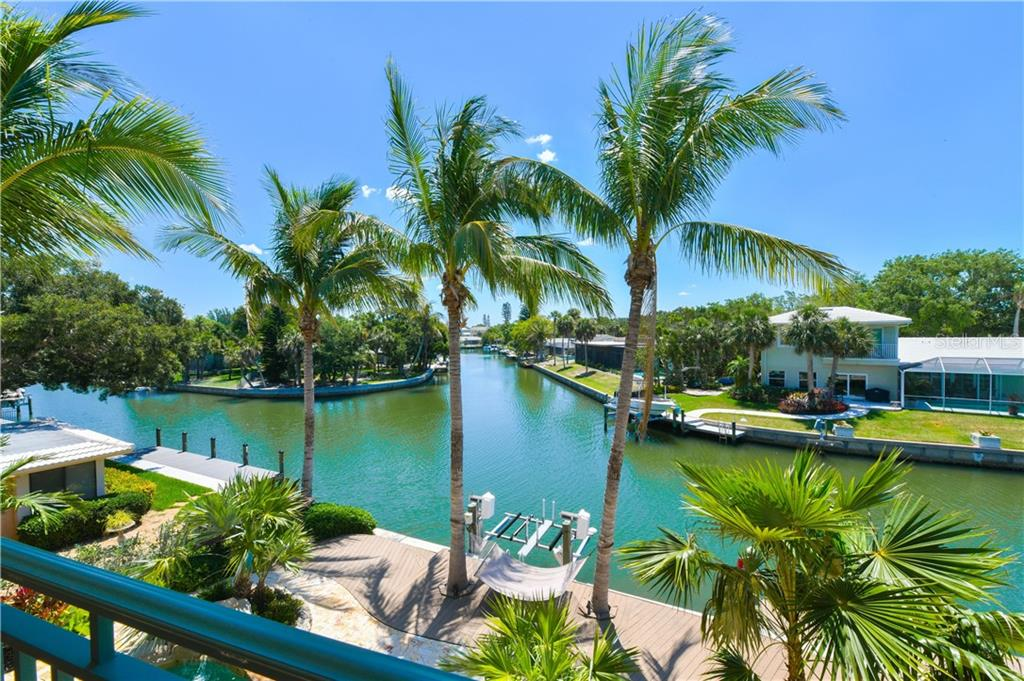 View of the Grand Canal from the upper terrace - Single Family Home for sale at 506 Venice Ln, Sarasota, FL 34242 - MLS Number is A4402493