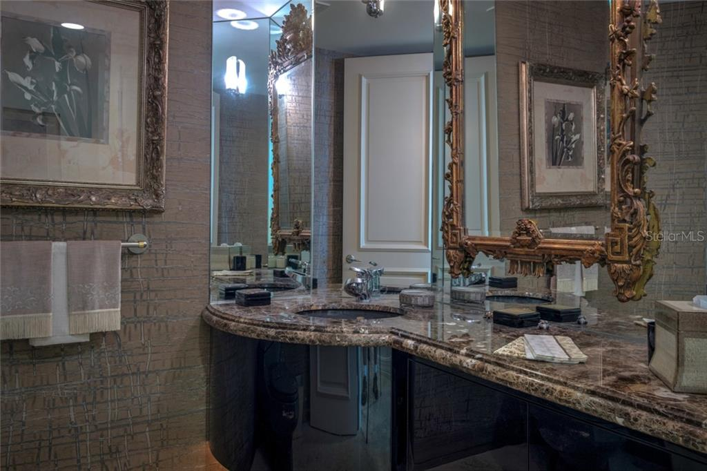 Elegant powder room with under cabinet lighting. - Condo for sale at 340 S Palm Ave #412, Sarasota, FL 34236 - MLS Number is A4403968