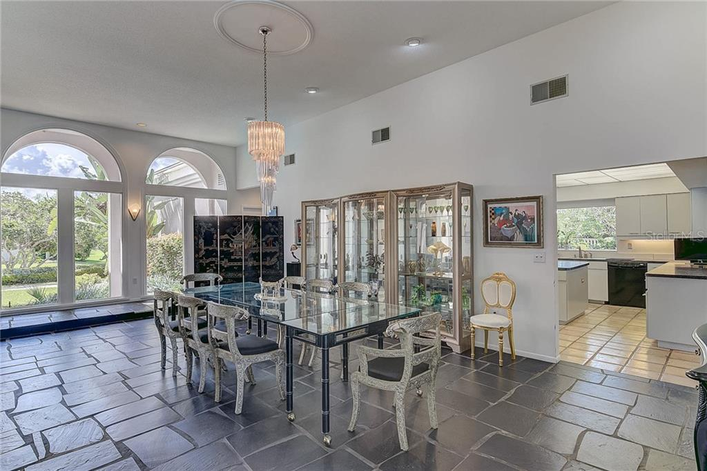 Great Room's Formal Dining Area - Single Family Home for sale at 3911 Spyglass Hill Rd, Sarasota, FL 34238 - MLS Number is A4404657