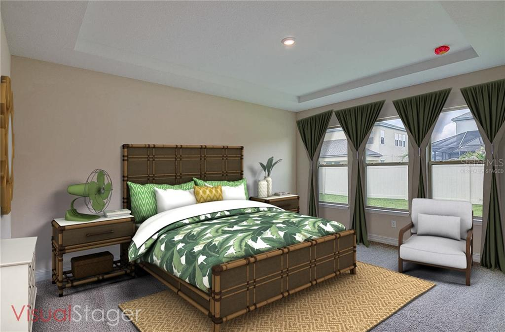 Master bedroom has been virtually staged for illustration purposes only. - Single Family Home for sale at 13019 Utopia Loop, Bradenton, FL 34211 - MLS Number is A4404703