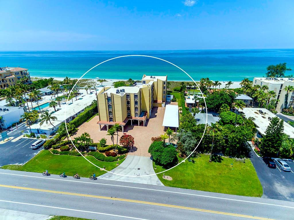 Aerial view. - Condo for sale at 4215 Gulf Of Mexico Dr #103, Longboat Key, FL 34228 - MLS Number is A4404956