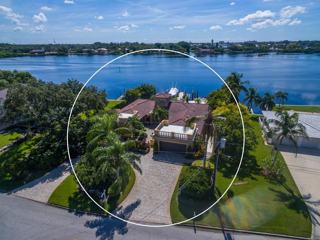 Rear exposure from the boat dock. - Single Family Home for sale at 301 Bayview Pkwy, Nokomis, FL 34275 - MLS Number is A4405265