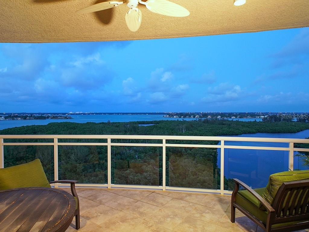 Master Bedroom - Access to Terrace - Condo for sale at 1300 Benjamin Franklin Dr #1008, Sarasota, FL 34236 - MLS Number is A4405360