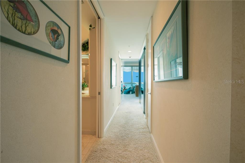 Hallway in Master suite. - Condo for sale at 435 L Ambiance Dr #k806, Longboat Key, FL 34228 - MLS Number is A4406683