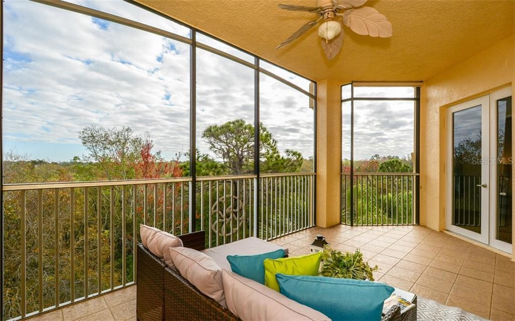 Large Private Lanai overlooking Preserve - Condo for sale at 6465 Watercrest Way #403, Lakewood Ranch, FL 34202 - MLS Number is A4409044