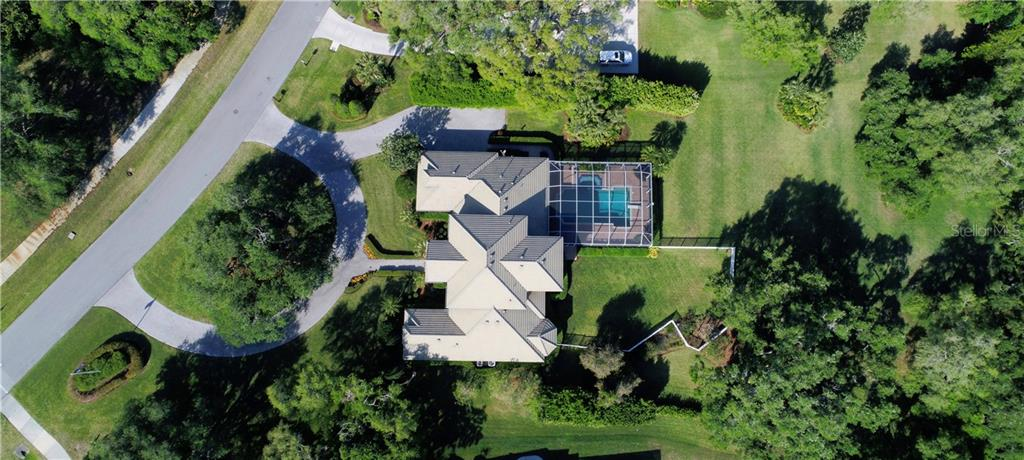 Bird's Eye View - Single Family Home for sale at 7698 Albert Tillinghast Dr, Sarasota, FL 34240 - MLS Number is A4416123