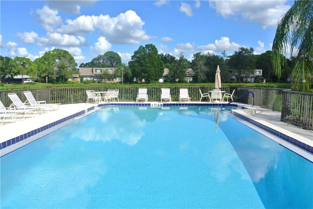 One of two community pools.  Heated! - Villa for sale at 5235 Myrtle Wood #18, Sarasota, FL 34235 - MLS Number is A4418558