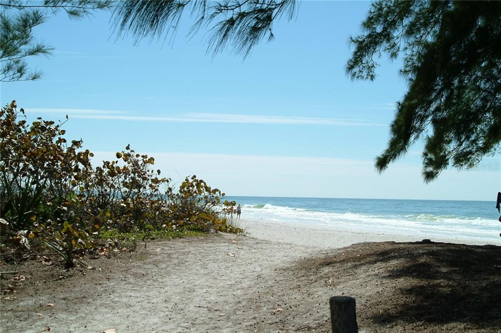 Nice little public access to the beach on the Gulf of Mexico, 2 blocks from Westbay Cove.  Can you hear the waves? - Condo for sale at 600 Manatee Ave #202, Holmes Beach, FL 34217 - MLS Number is A4419465