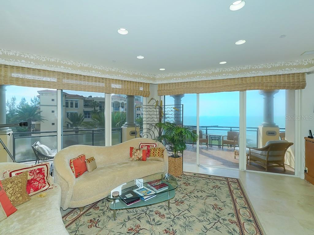 Living Room - Panoramic Views - Condo for sale at 2399 Gulf Of Mexico Dr #3c3, Longboat Key, FL 34228 - MLS Number is A4421722